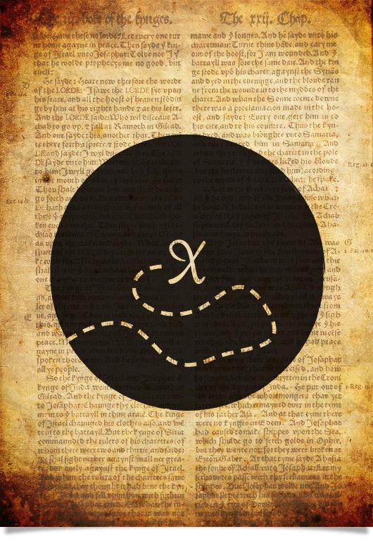 10 minute graphic design project – Treasure Island book cover